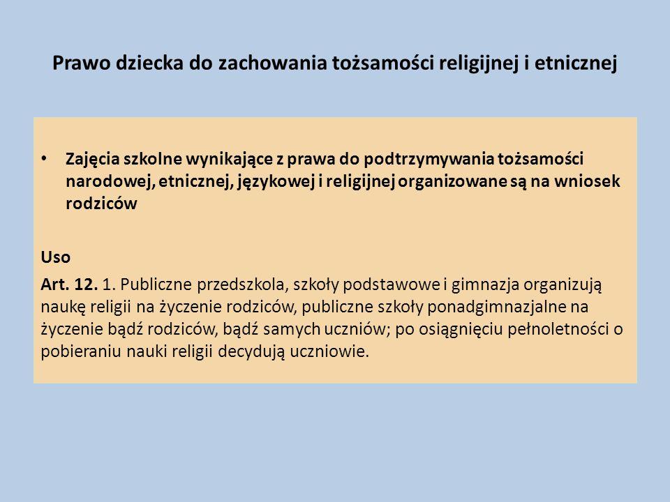 Prawo dziecka do zachowania tożsamości religijnej i etnicznej