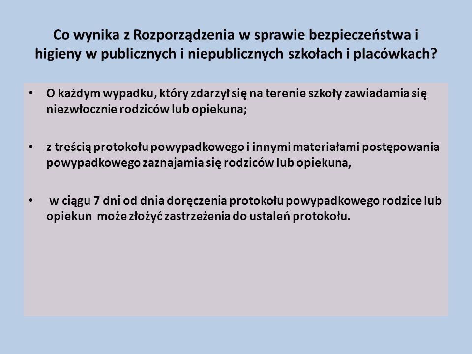 Co wynika z Rozporządzenia w sprawie bezpieczeństwa i higieny w publicznych i niepublicznych szkołach i placówkach