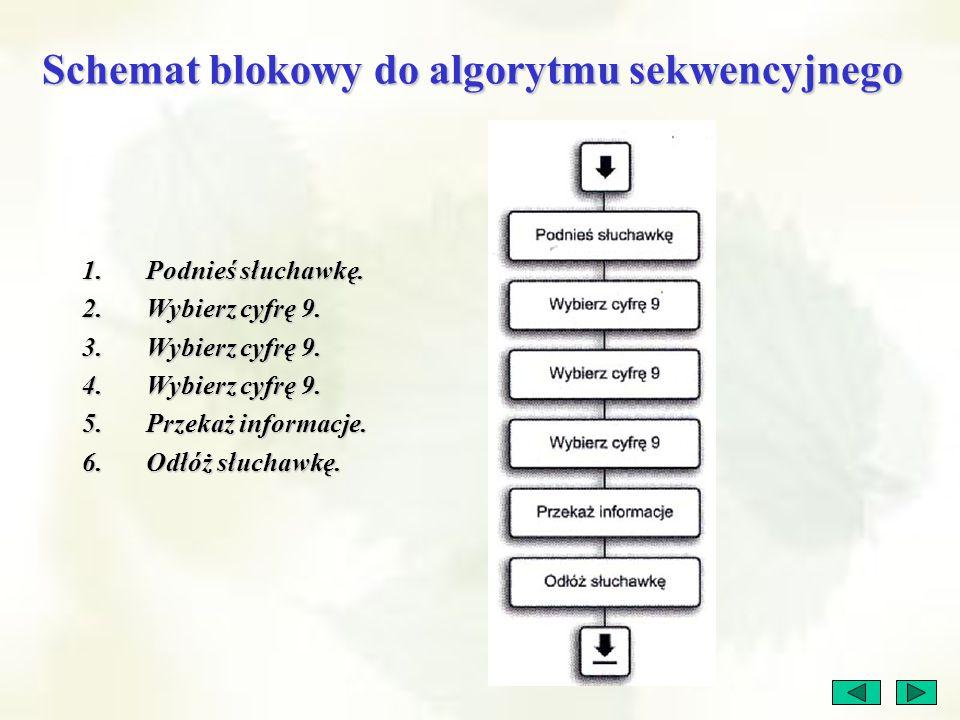 Schemat blokowy do algorytmu sekwencyjnego