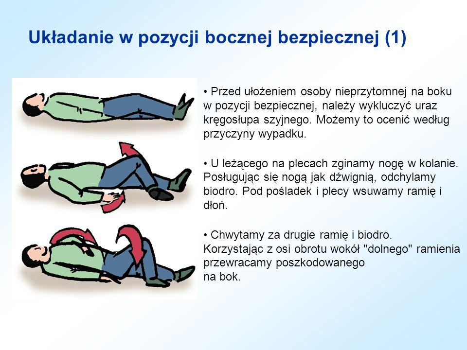 Układanie w pozycji bocznej bezpiecznej (1)