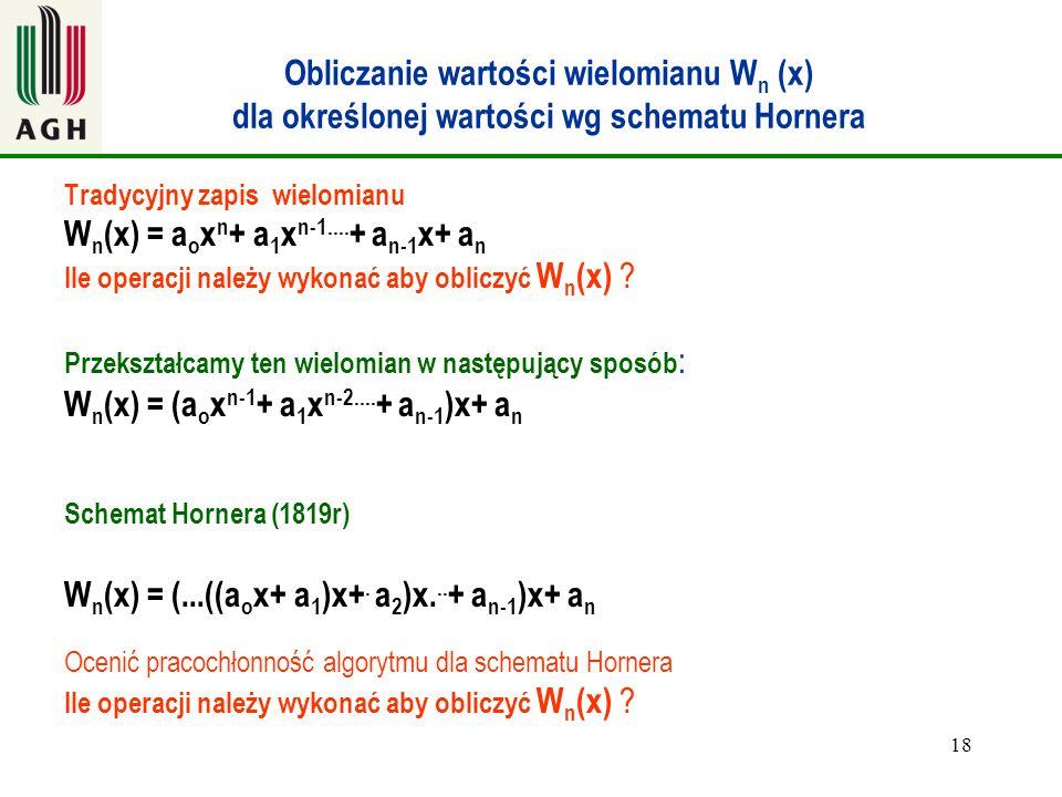 Wn(x) = aoxn+ a1xn-1....+ an-1x+ an