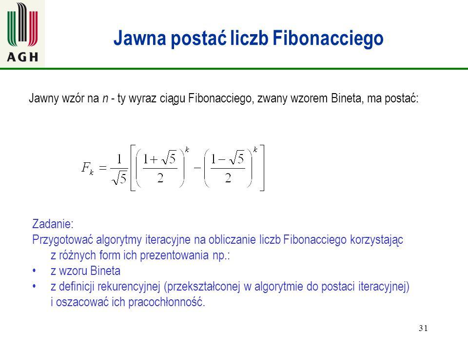 Jawna postać liczb Fibonacciego