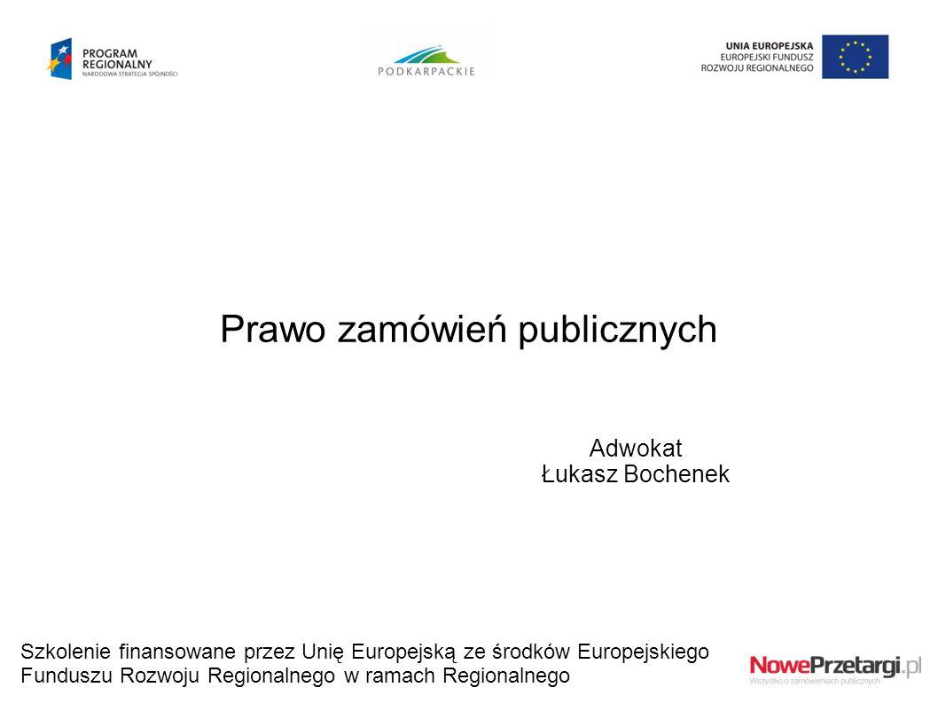 Prawo zamówień publicznych Adwokat Łukasz Bochenek