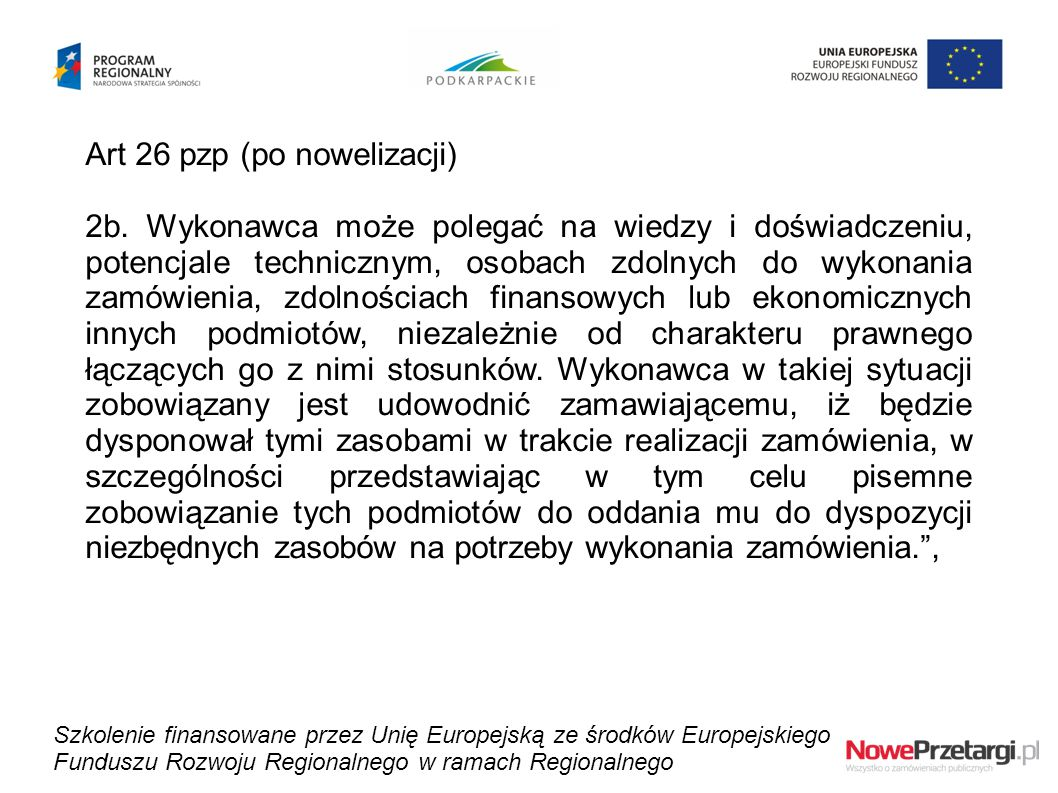 Art 26 pzp (po nowelizacji)