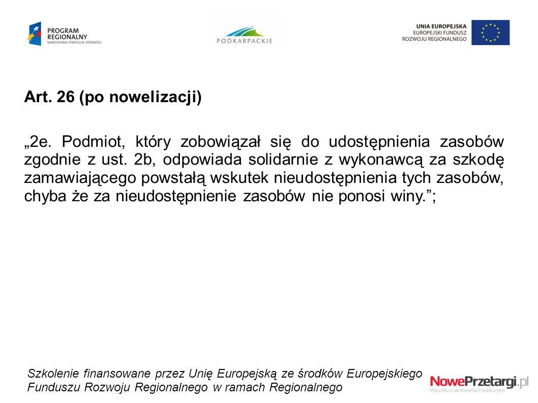 Art. 26 (po nowelizacji)