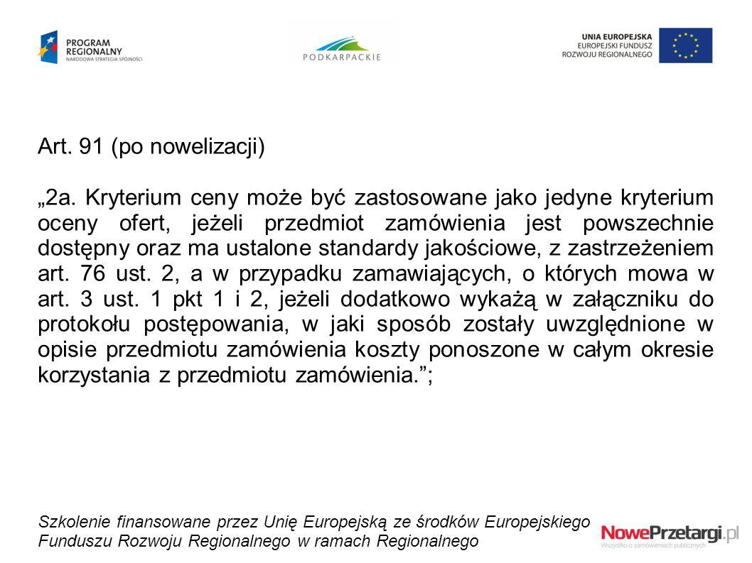Art. 91 (po nowelizacji)