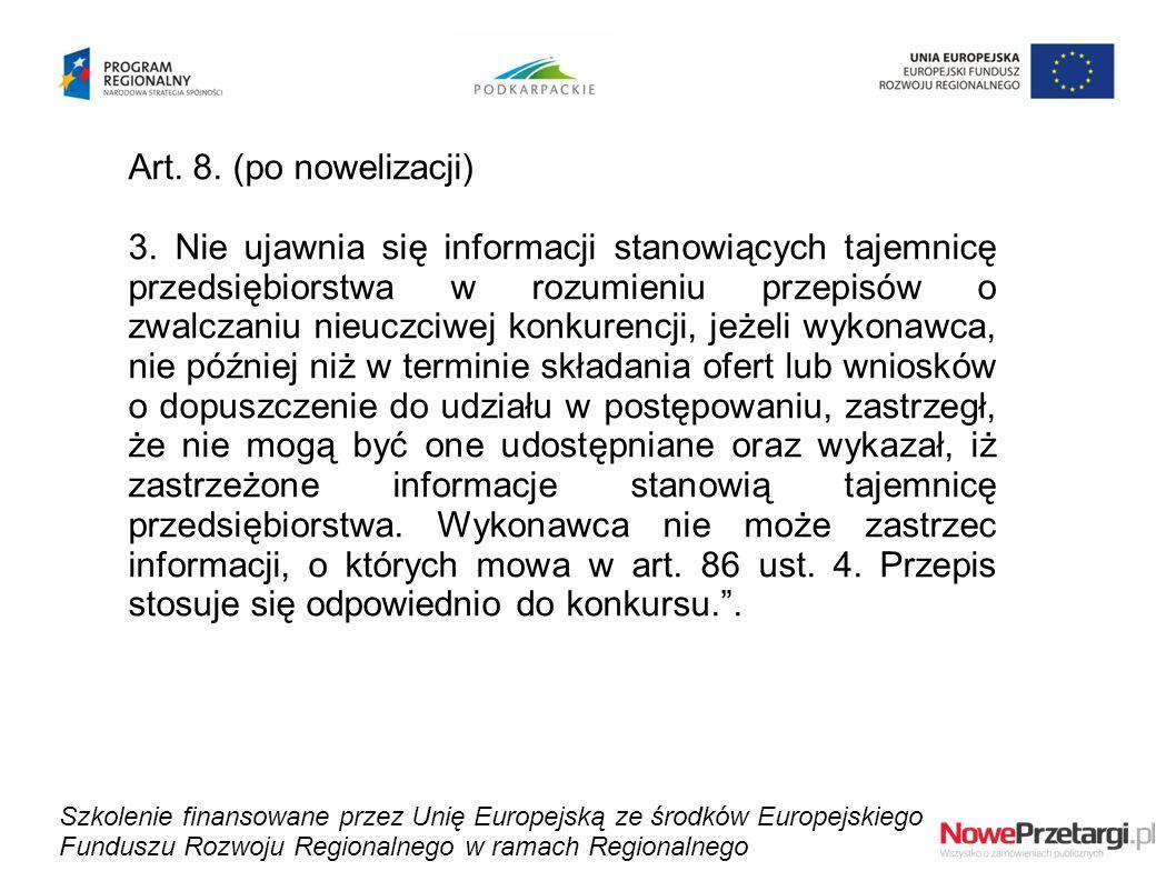 Art. 8. (po nowelizacji)