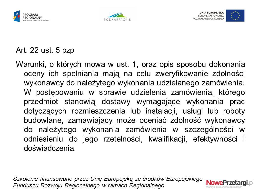 Art. 22 ust. 5 pzp