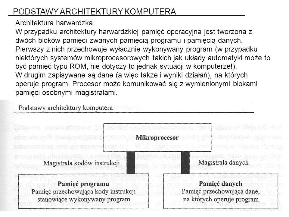 PODSTAWY ARCHITEKTURY KOMPUTERA