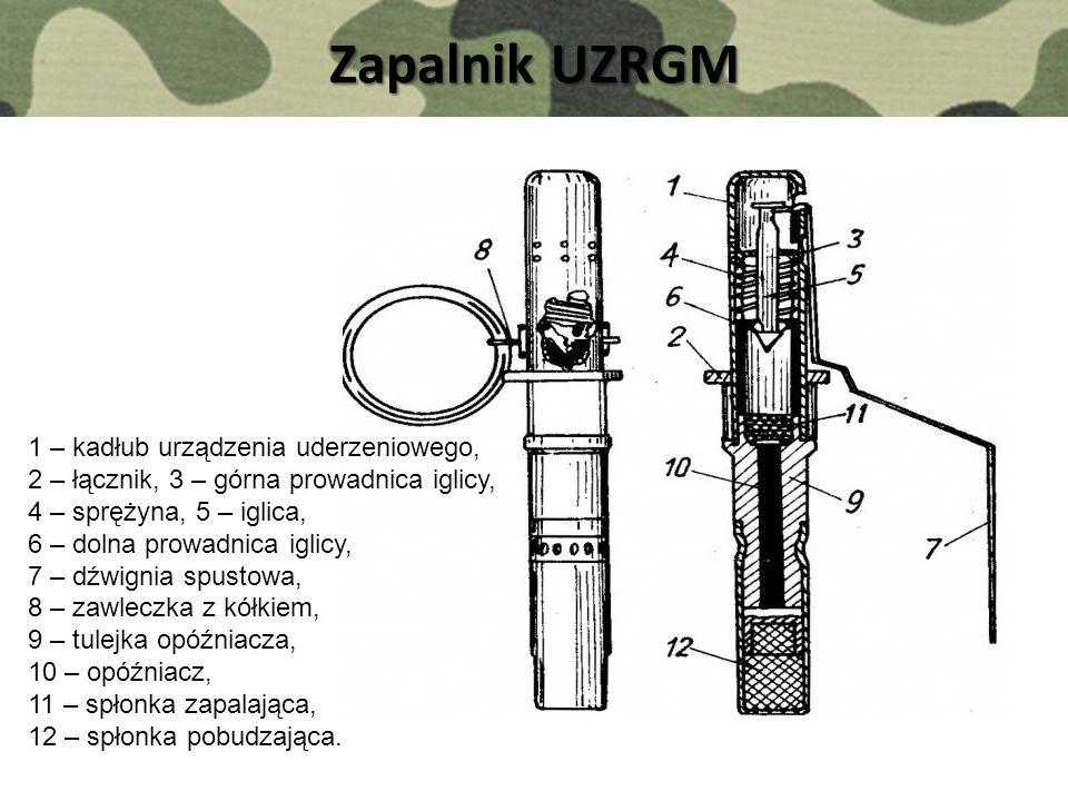 Zapalnik UZRGM 1 – kadłub urządzenia uderzeniowego,