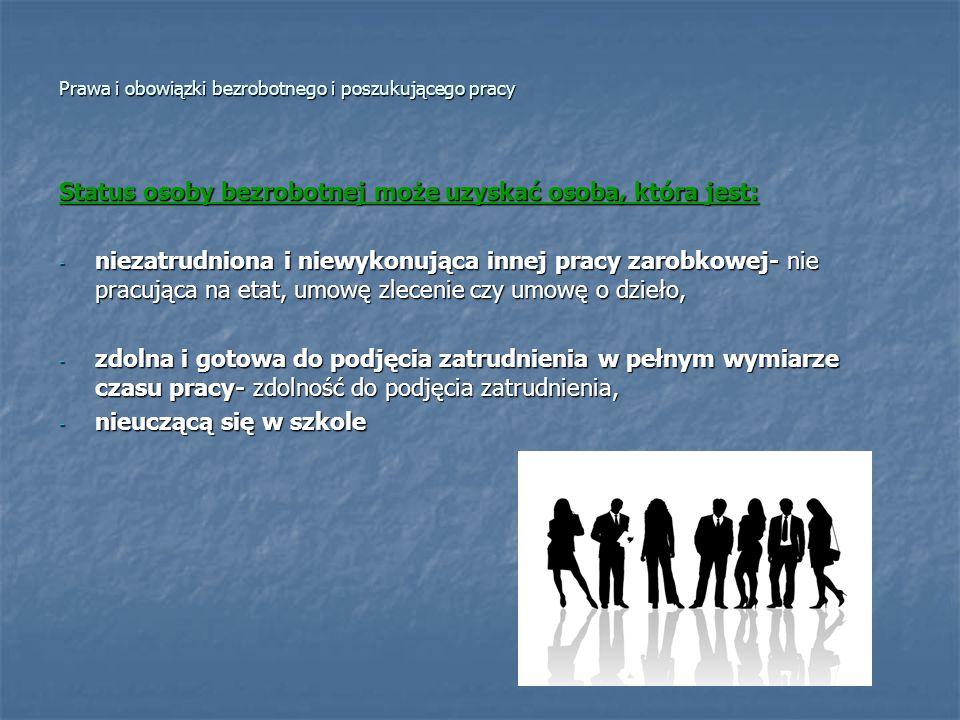 Prawa i obowiązki bezrobotnego i poszukującego pracy