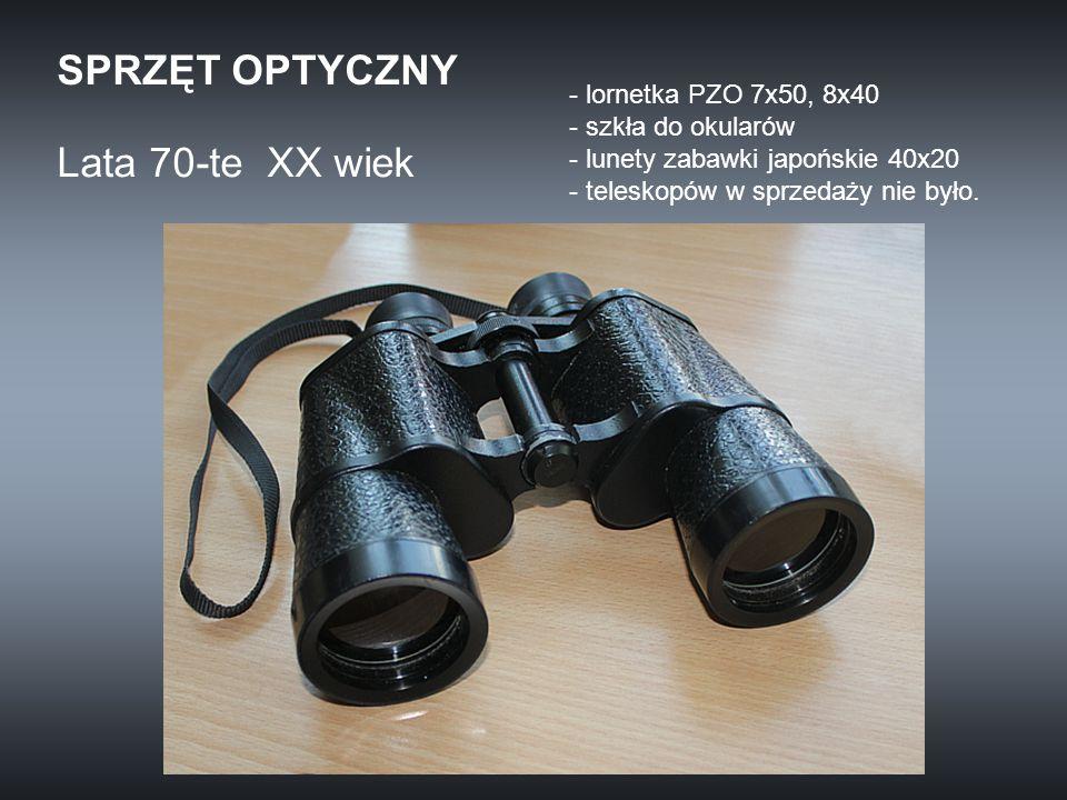 SPRZĘT OPTYCZNY Lata 70-te XX wiek lornetka PZO 7x50, 8x40