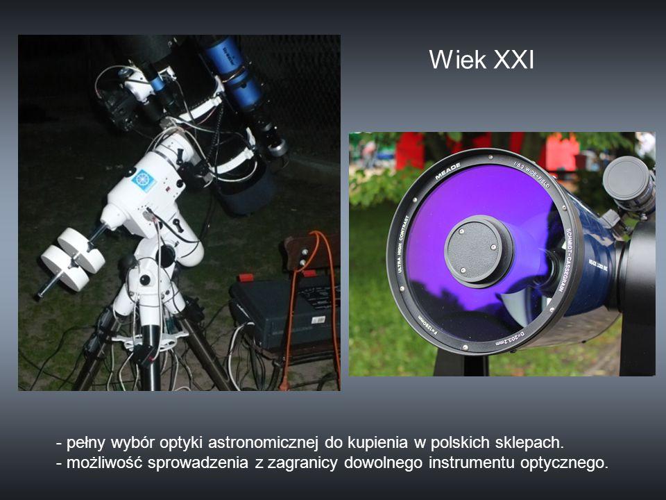 Wiek XXI - pełny wybór optyki astronomicznej do kupienia w polskich sklepach.