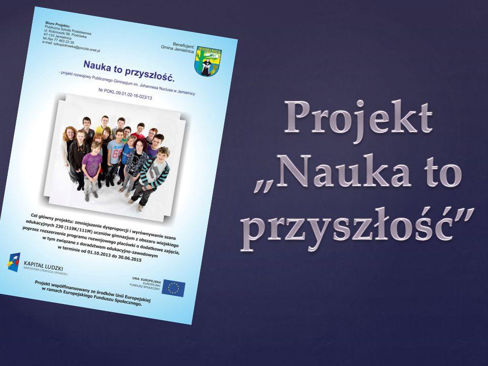 """Projekt """"Nauka to przyszłość"""