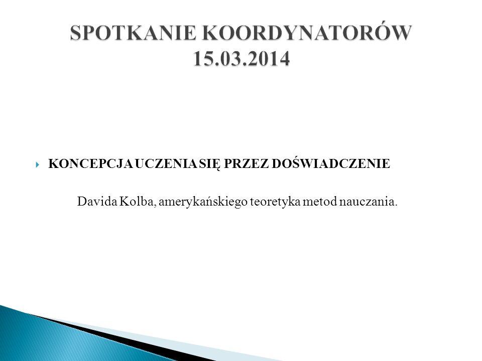 SPOTKANIE KOORDYNATORÓW 15.03.2014