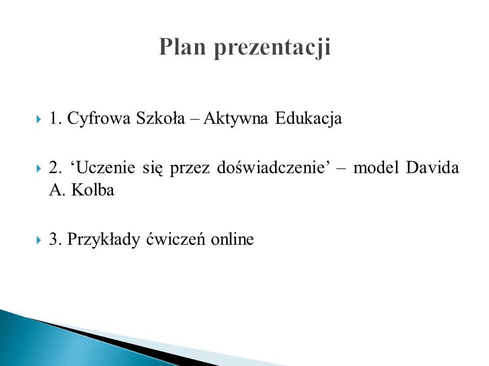 Plan prezentacji 1. Cyfrowa Szkoła – Aktywna Edukacja