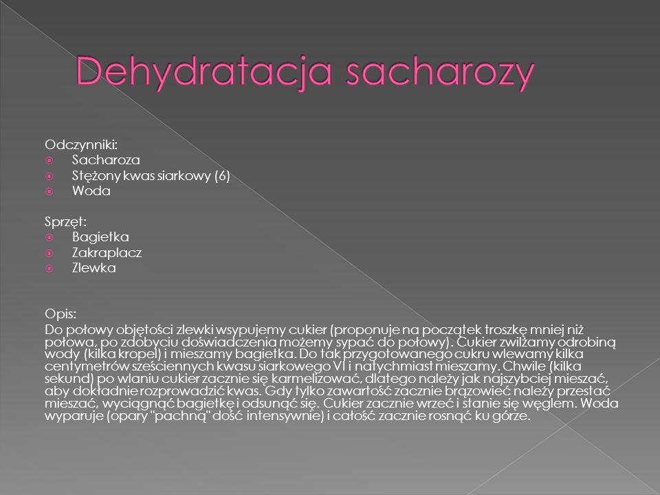 Dehydratacja sacharozy