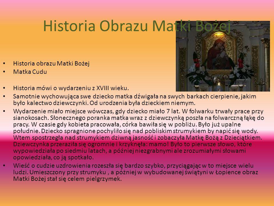 Historia Obrazu Matki Bożej