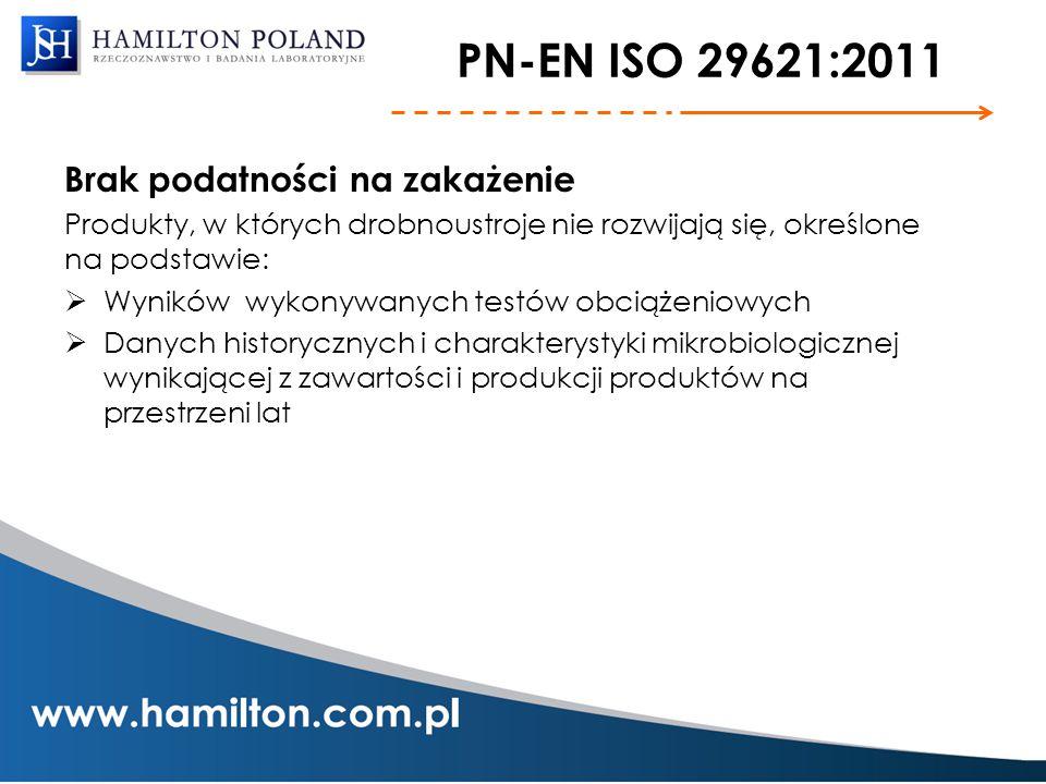 PN-EN ISO 29621:2011 Brak podatności na zakażenie