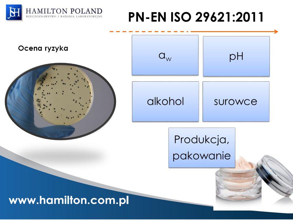 PN-EN ISO 29621:2011 Ocena ryzyka aw pH alkohol surowce pakowanie