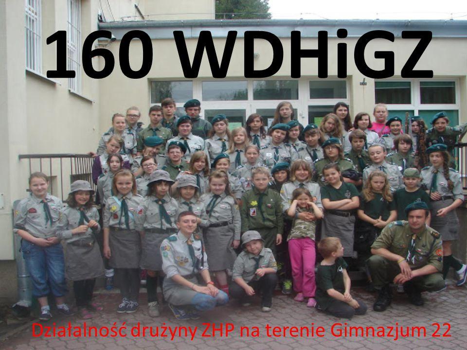 Działalność drużyny ZHP na terenie Gimnazjum 22