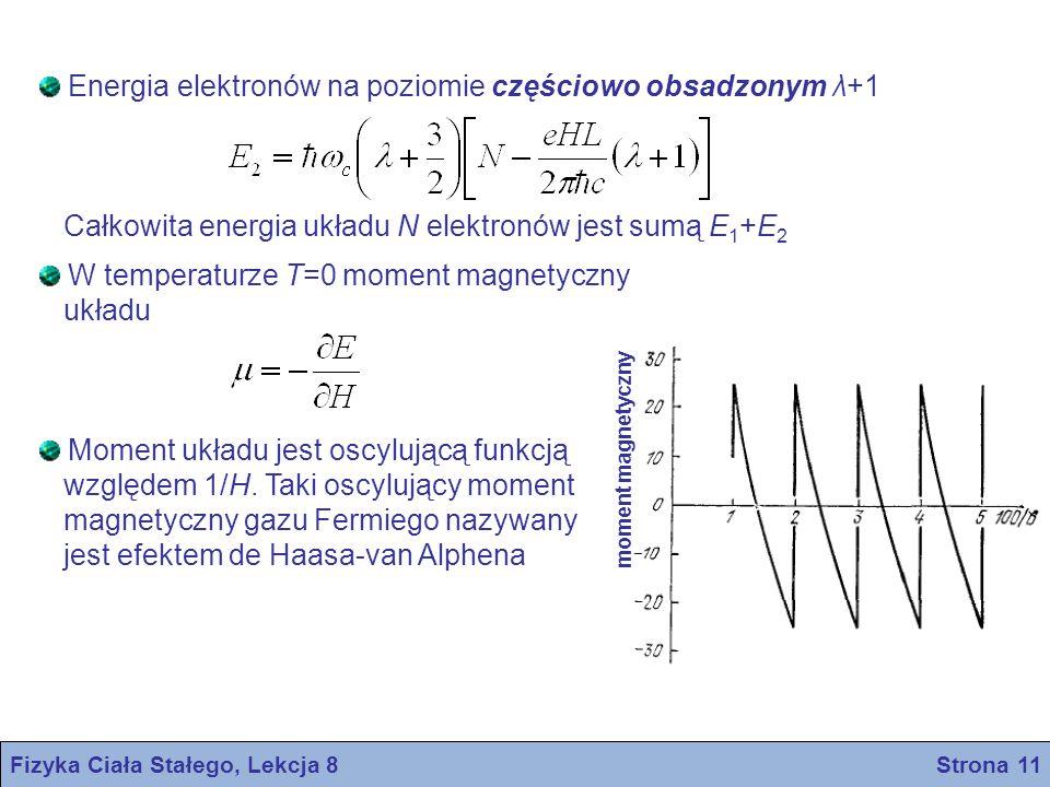 Fizyka Ciała Stałego, Lekcja 8 Strona 11