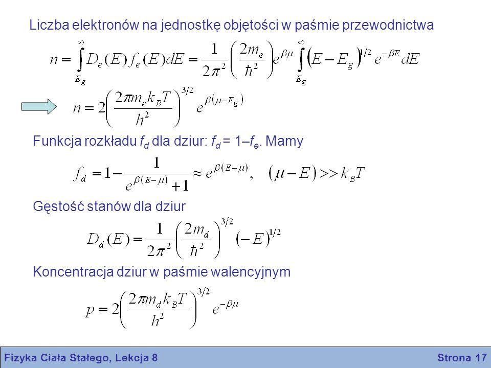 Fizyka Ciała Stałego, Lekcja 8 Strona 17