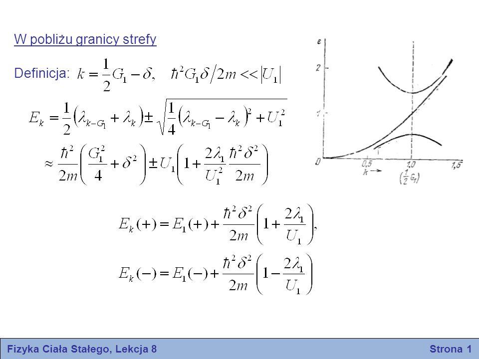 Fizyka Ciała Stałego, Lekcja 8 Strona 1