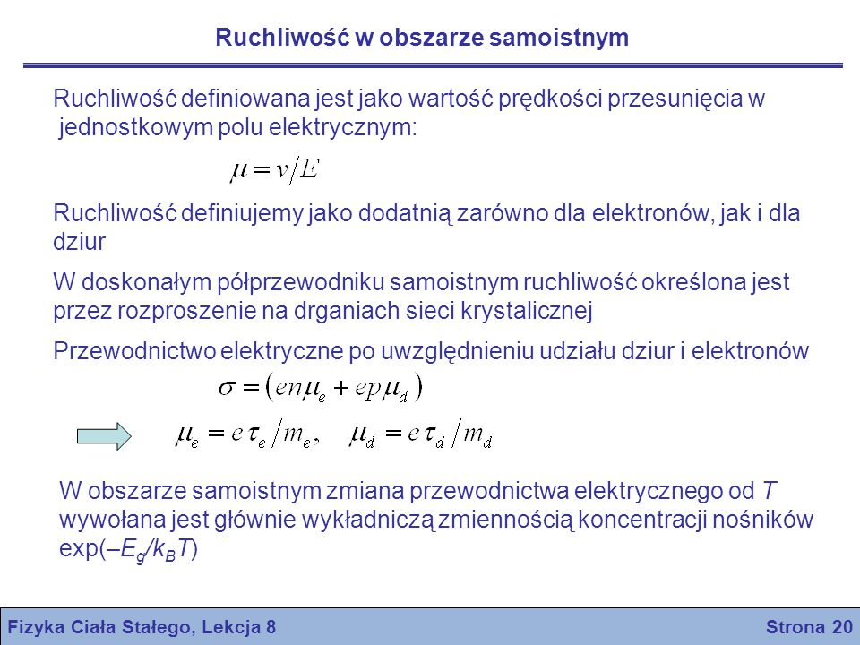 Fizyka Ciała Stałego, Lekcja 8 Strona 20