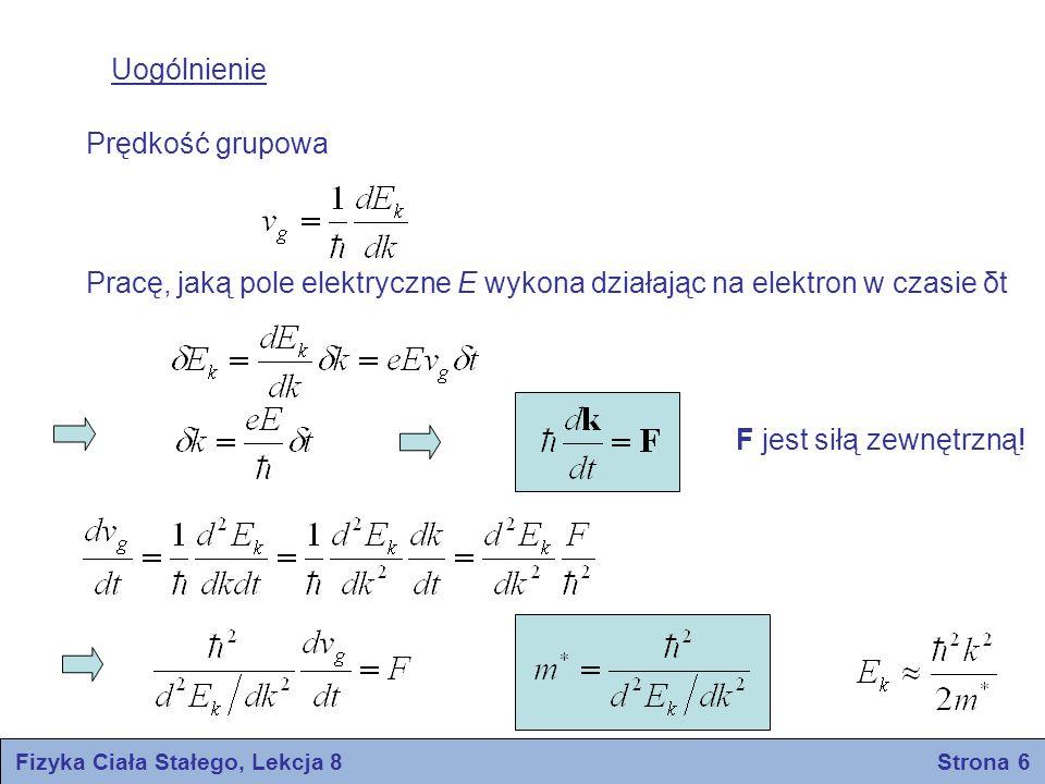 Fizyka Ciała Stałego, Lekcja 8 Strona 6