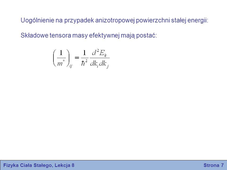 Fizyka Ciała Stałego, Lekcja 8 Strona 7