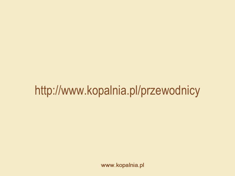 http://www.kopalnia.pl/przewodnicy www.kopalnia.pl