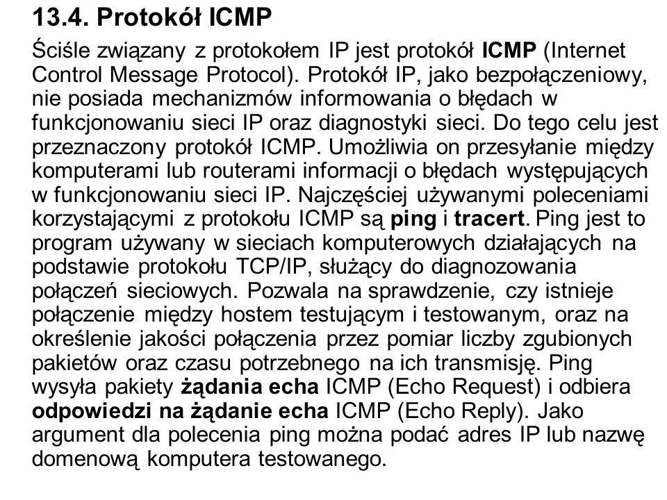 13.4. Protokół ICMP