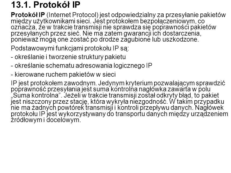 13.1. Protokół IP