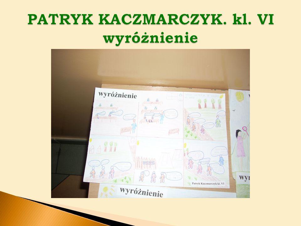 PATRYK KACZMARCZYK. kl. VI wyróżnienie