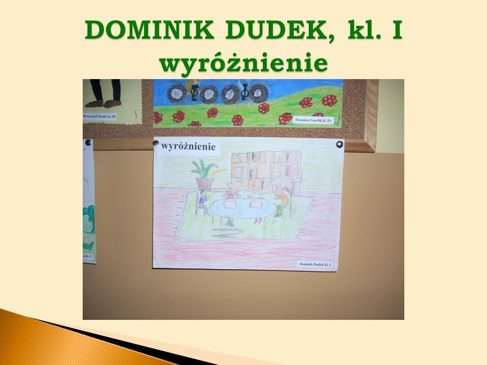 DOMINIK DUDEK, kl. I wyróżnienie