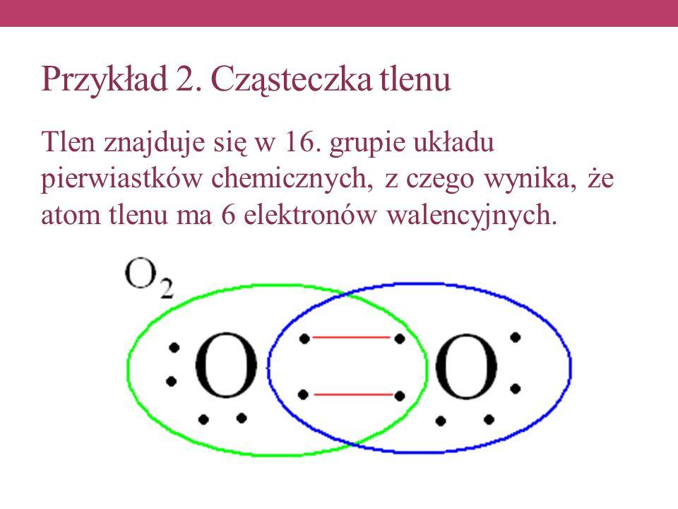 Przykład 2. Cząsteczka tlenu