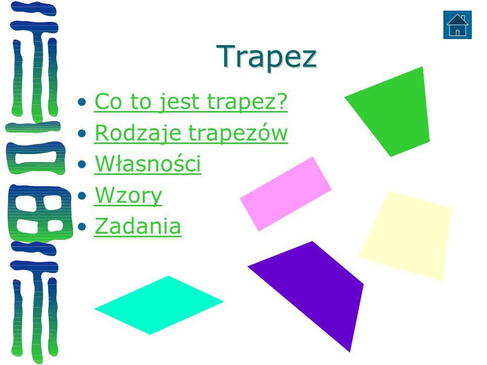 Trapez Co to jest trapez Rodzaje trapezów Własności Wzory Zadania