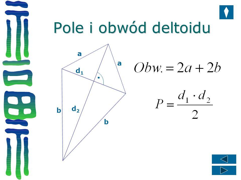 Pole i obwód deltoidu a a d1 d2 b b