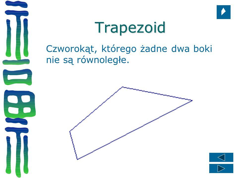 Trapezoid Czworokąt, którego żadne dwa boki nie są równoległe.