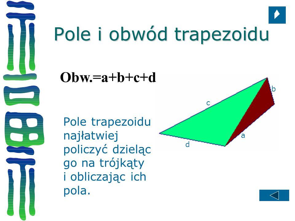 Pole i obwód trapezoidu