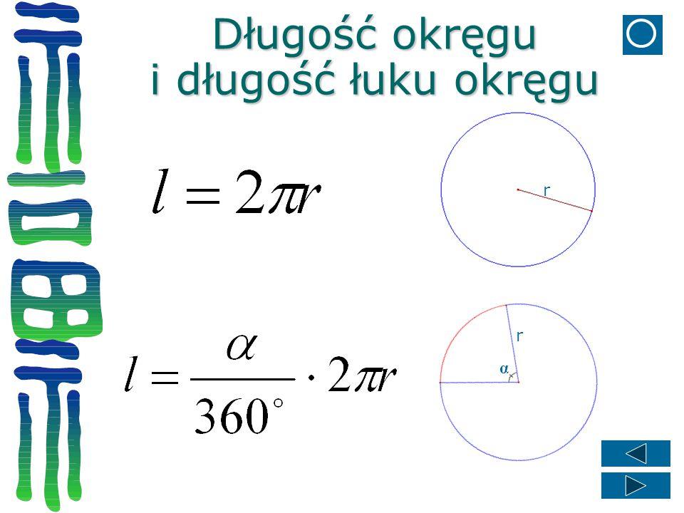 Długość okręgu i długość łuku okręgu
