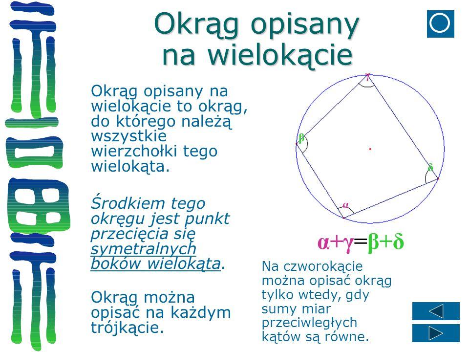 Okrąg opisany na wielokącie