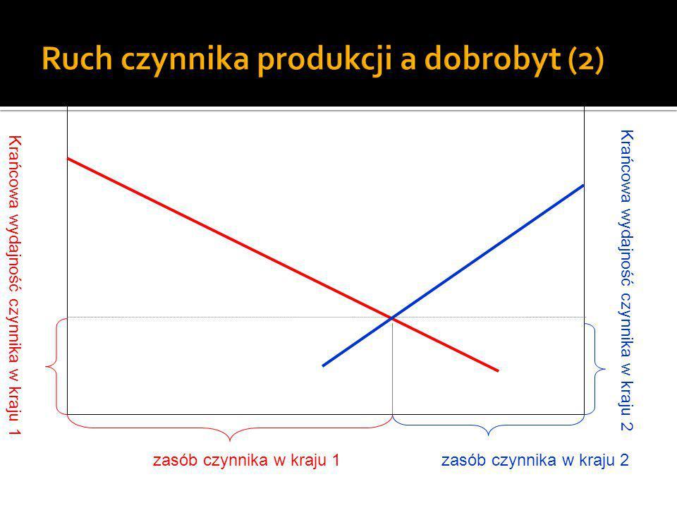 Ruch czynnika produkcji a dobrobyt (2)