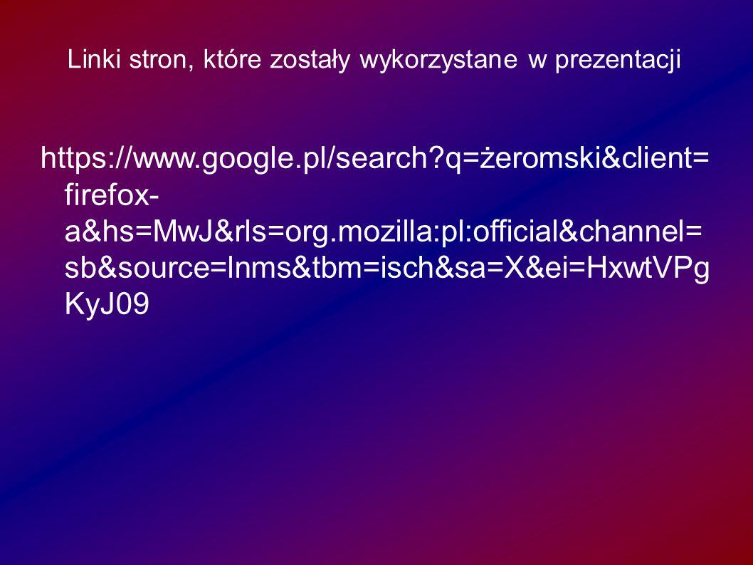Linki stron, które zostały wykorzystane w prezentacji wykorzystane w prezentacji