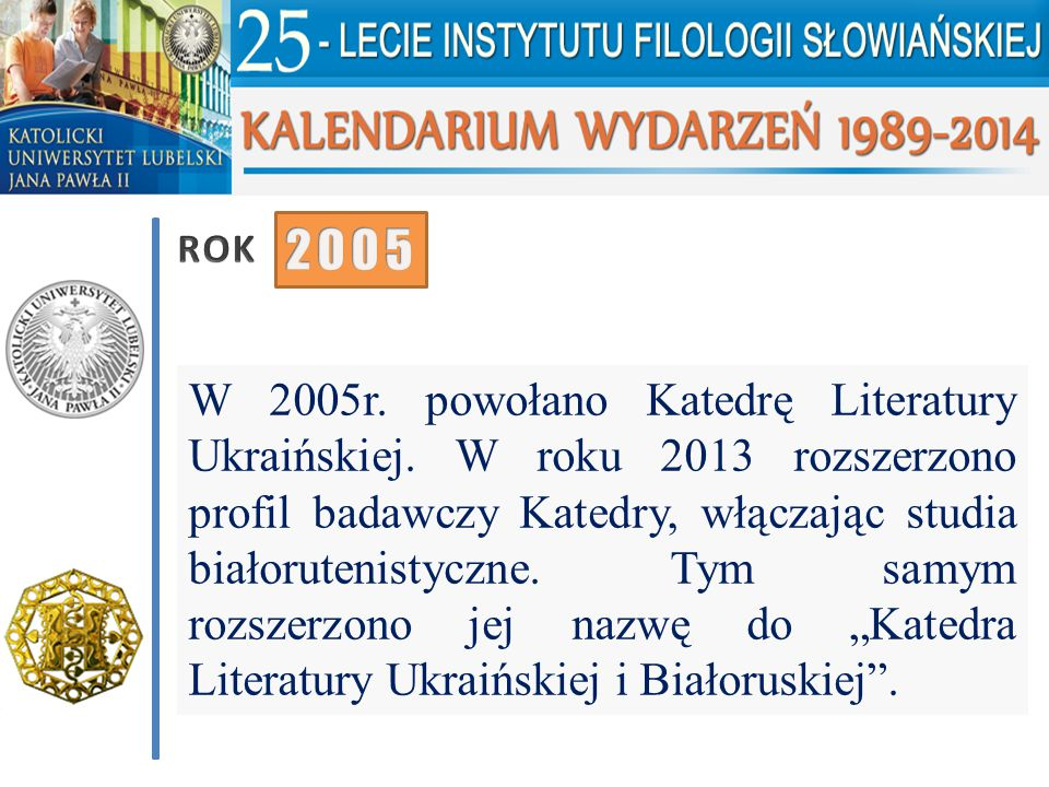 ROK 2005.