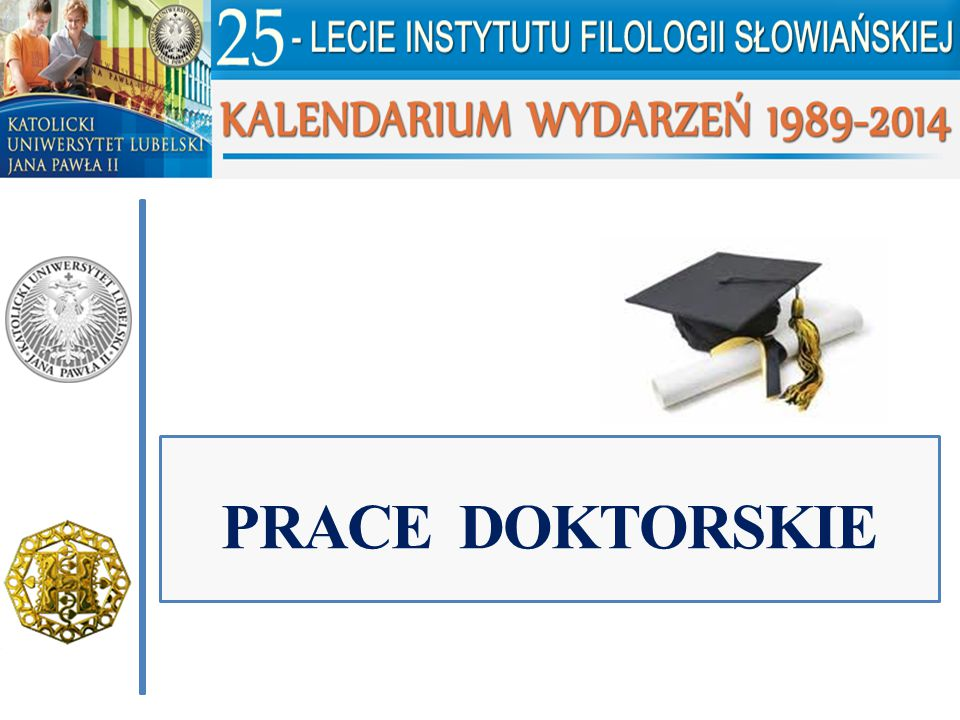 PRACE DOKTORSKIE