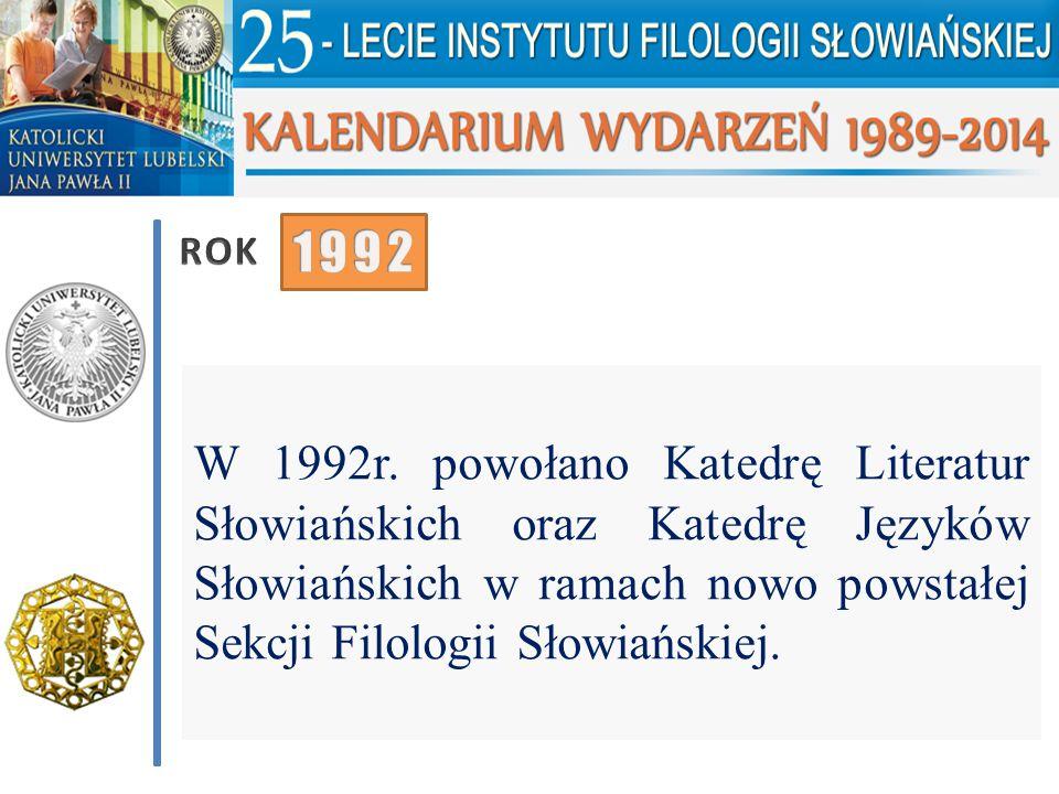 ROK 1992. W 1992r.