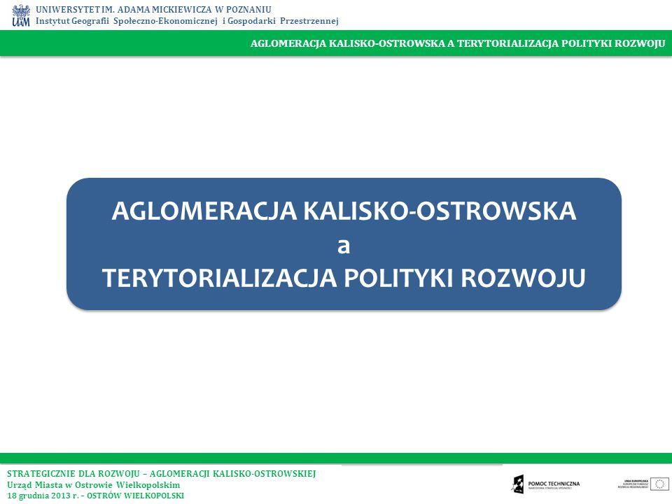 AGLOMERACJA KALISKO-OSTROWSKA TERYTORIALIZACJA POLITYKI ROZWOJU