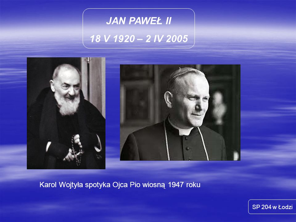 Karol Wojtyła spotyka Ojca Pio wiosną 1947 roku